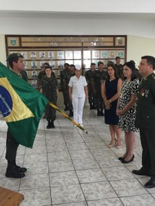 A ex-governadora durante a solenidade de entrega da comenda