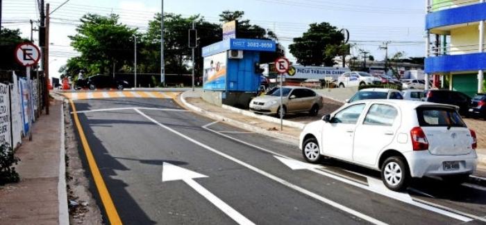 A saída ao lado do Royal Center (rua deputado Luiz Rocha) é a opção para quem vem do Turu pela Aririzal