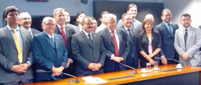 Parte da bancada de deputados e senadores: nova coordenação em 2016