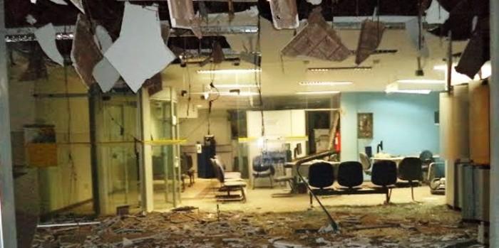 Explosivos entram facilmente no estado e causam este estrago aí...