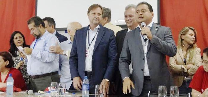 Weverton Rocha fez um dos principais discursos do encontro nacional do PDT...