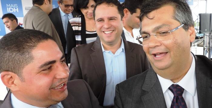 Zé Inácio com Flávio Dino e Edivaldo; mas PSDB não dá pra ele...