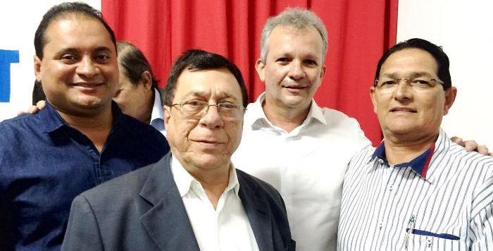Amaury Almeida com Weverton, Julião e o ministro