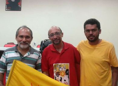 Pedrosa com Luzi Araújo e Enilton Rodrigues