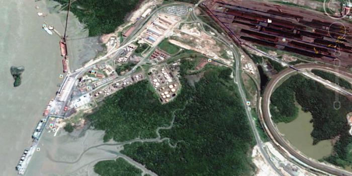 Região do novo porto, onde já estão os terminais da Vale, da Alumar e da Emap