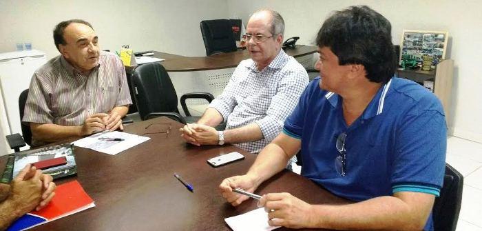 Com o prefeito Sebastião madeira e o deputado Léo Cunha, em Imperatriz