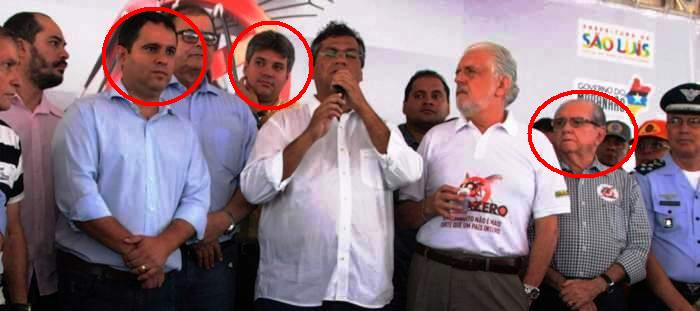 Edivaldo, Neto e Castelo: campanha, mas não contra o mosquito