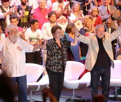 Boff com Dilma e Lula: exortação