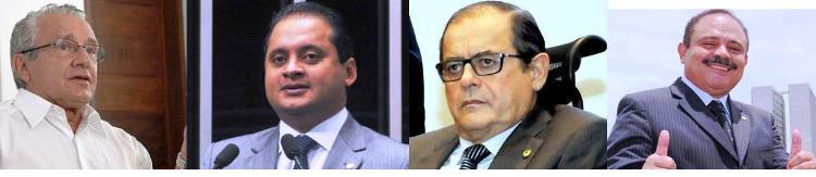 Weverton, Zé Reinaldo, Humberto e Waldir são opções do governo para o Senado