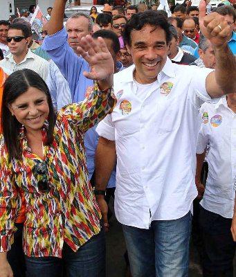 Roseana e Edinho posicionados com PMDB