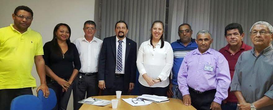 Júnior Verde com representantes do projeto