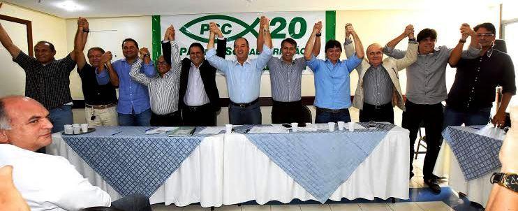 Edivaldo com os líderes dos partidos presentes ao encontro