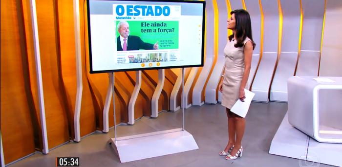 A jornalista Monalisa Perrone destaca e comenta a manchete de O EstadoMaranhão
