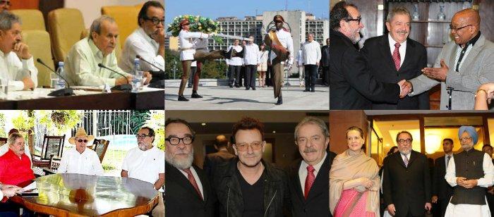 Fernando Morais com Lula em vários momentos no exterior; ainda faltam provas?!?