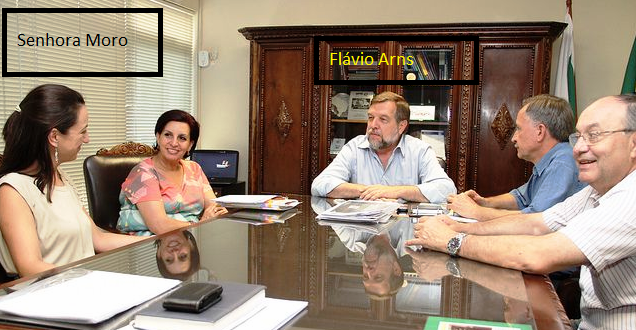 A mulher de Moro em reunião no gabinete do vice do Paraná, estado chefiado pelo PSDB...