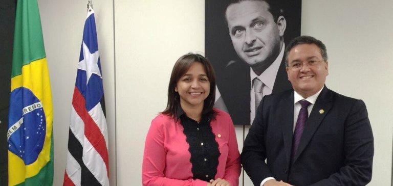 Elizane Gama com Roberto Rocha, sob as bênçãos de Eduardo Campos