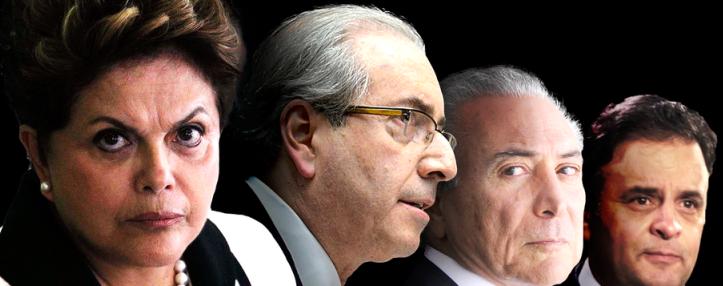 Dilma é ameaçada por Edurdo Cunha, que visa favorecer Michel Temer, que já acordou com Aécio Neves a trnsição