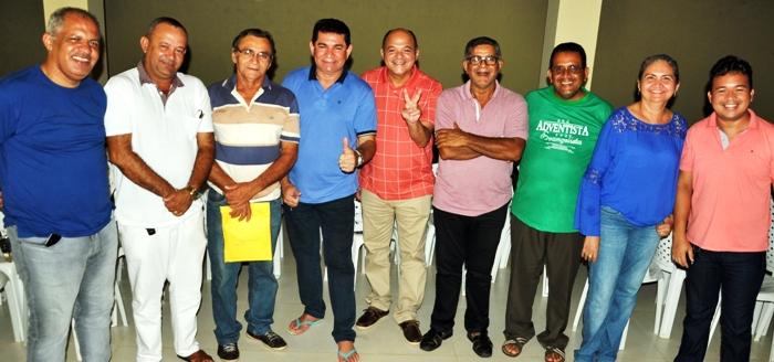 Alan Linhares com as lideranças partiárias
