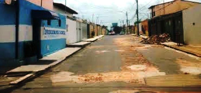 Uma das ruas da região do Bequimão... buracos (imagem ilustrativa)