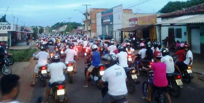 Motoqueiros também participaram da manifestação