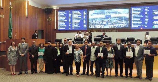 Participantes receberam, certificados de participação