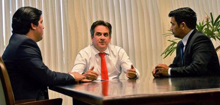 Fufuca e Wellington com senador Ciro Nogueira: comando do PP gaantido