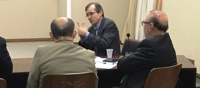 Pacheco, hoje, enquanto fazia apresentação para o Banco Mundial; mas já não era mais secretário