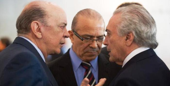 José Sera e Eliseu Padilha são da cota pessoal de Temer para resgatar a credibilidade do Brasil