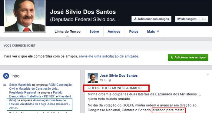 O perfil de José Sílvio; atitudes insanas...