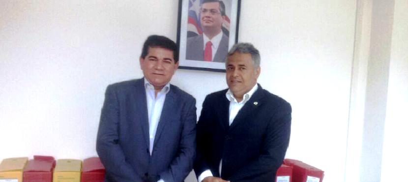 Alan Linhares e o secretário Marcelo Coelho