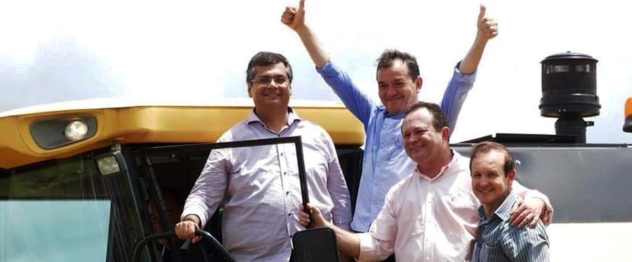 Flávio Dino com o prefeito de São Mateus, Hamilton Aragão, jamais incomodado pelas ações da Polícia