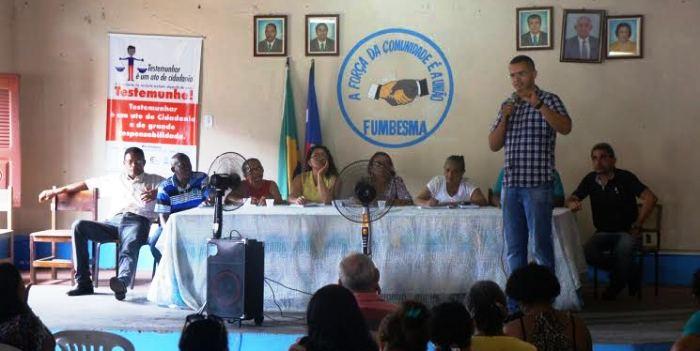 Brenno em ação entre as comunidades de São Luís