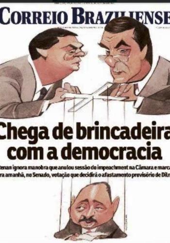 Capa do Correio Braziliense expressou a opinião de Hildo