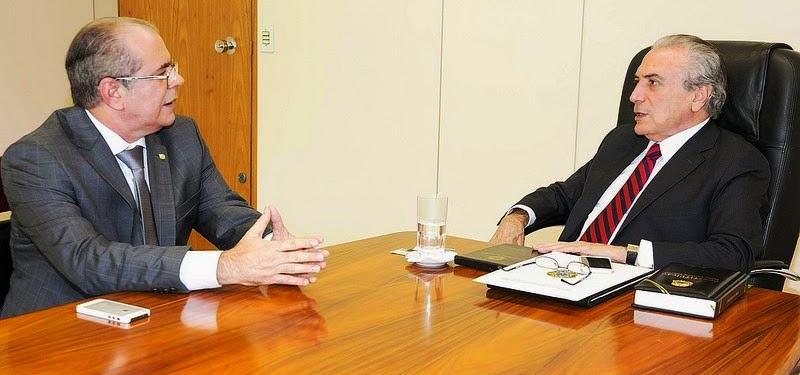 Hildo Rocha conversa com o presidente Temer: interlocutor pelo Maranhão