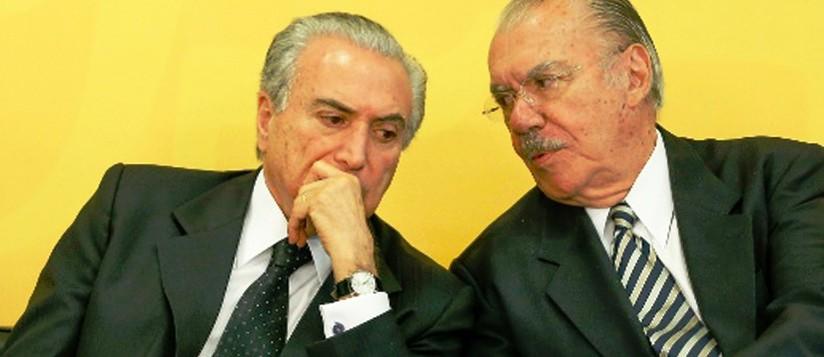 Michel Temer e Sarney: prestígio, poder e experiência...