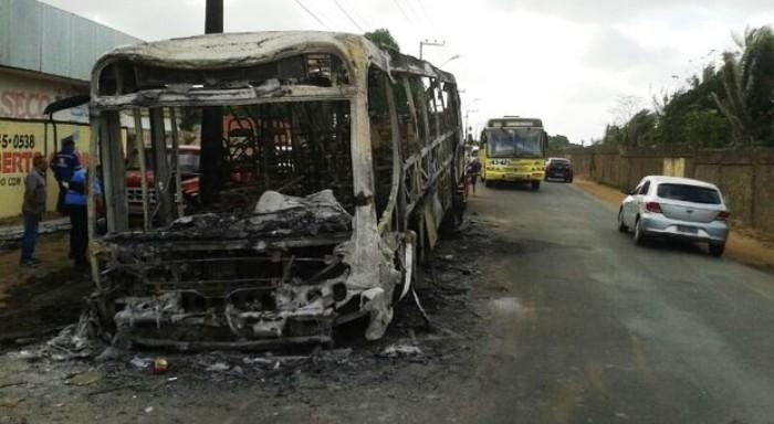 ônibus continuam sendo queimados em São Luís (imagem ilustrativa)