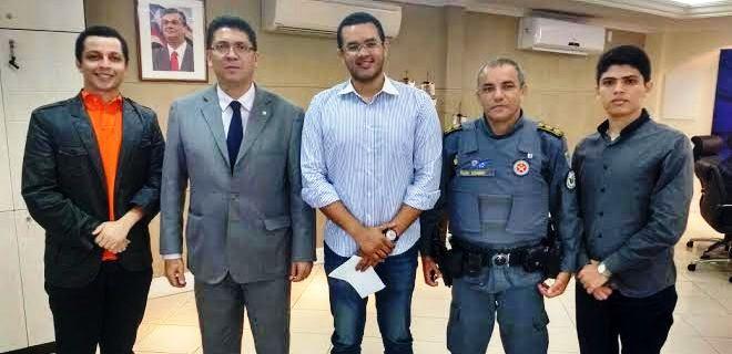 ..e com os chefes da Segurança no Maranhão