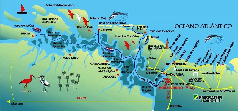 O mapa da Rota das Emoções: valorização do litoral maranhense