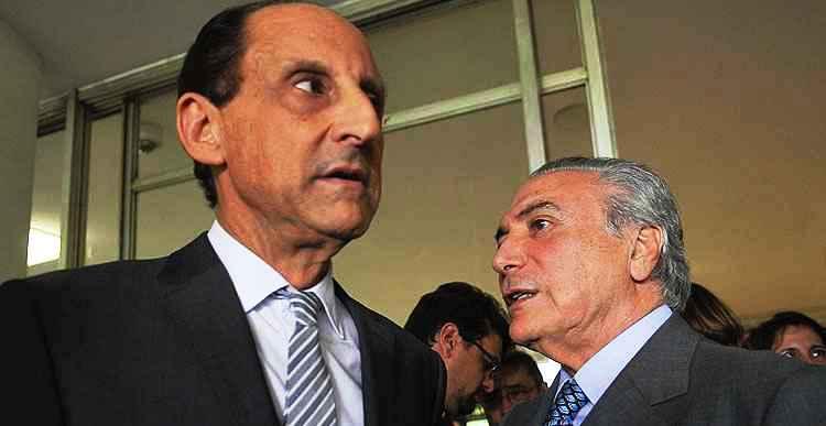 Paulo Skaf, da Fiesp, com Temer: o mercado paulista dará o norte do governo