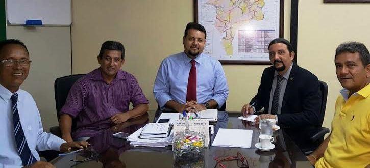 Júnior Verde, com Noleto e representantes dos municípios