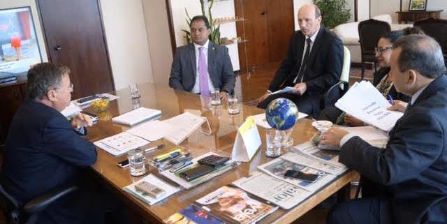 Weverton com o ministro Blairo Maggi