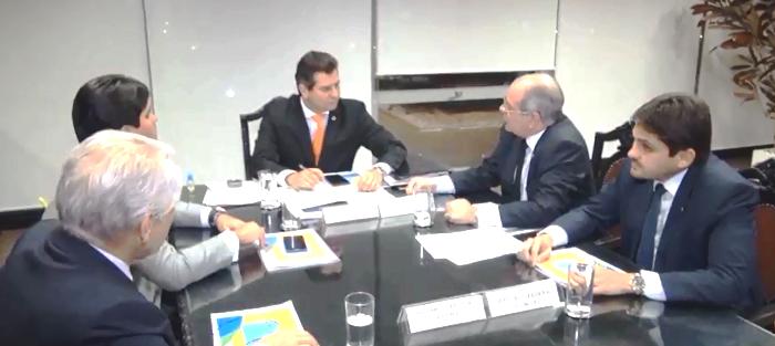 Hildo Rocha com o demais deputados do Maranhão, na audiência com Maurício Quintella