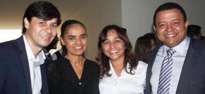 Marina Silva e Eliziane entre Eduardo Bruno e Márlon Reis os dirigentes da Rede no Maranhão