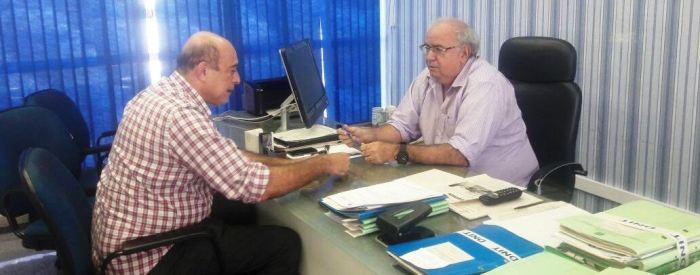 Ribamar Alves com o diretor regional do DNIT
