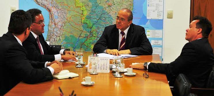 ...Com o ministro Eliseu Padilha, da Casa Civil...