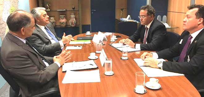 Roberto Rocha no Ministério do Turismo...