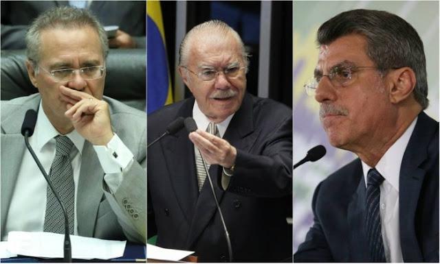Ministro do STF entendeu que Renan, Sarney e Jucá não cometeram crime algum