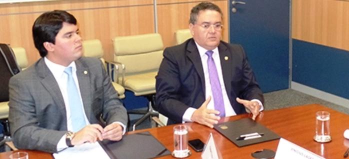 Andre Fufuca com Roberto Rocha: em busca de projeto não atrelado