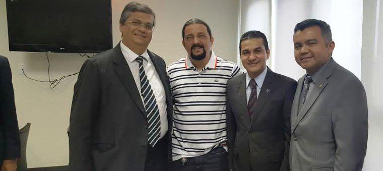 Verde com Flávio Dino, o ministro e Cléber verde