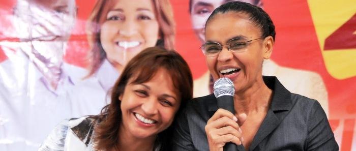 Eliziane Gama tem o apoio da Rede, de Marina Silva...